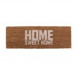 Χαλάκι Εισόδου Home Sweet Home 75 x 26 εκ. (Λευκό / Καφέ) - Present Time