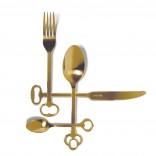 Μαχαιροπήρουνα Keytlery Gold (24 Τεμάχια) - Seletti