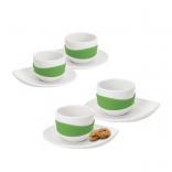 Φλιτζάνια Espresso με Πιατάκι Leaf (σετ των 4) - PO: Selected