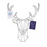Linea Deer Διακοσμητικός Πίνακας Ανακοινώσεων - Present Time