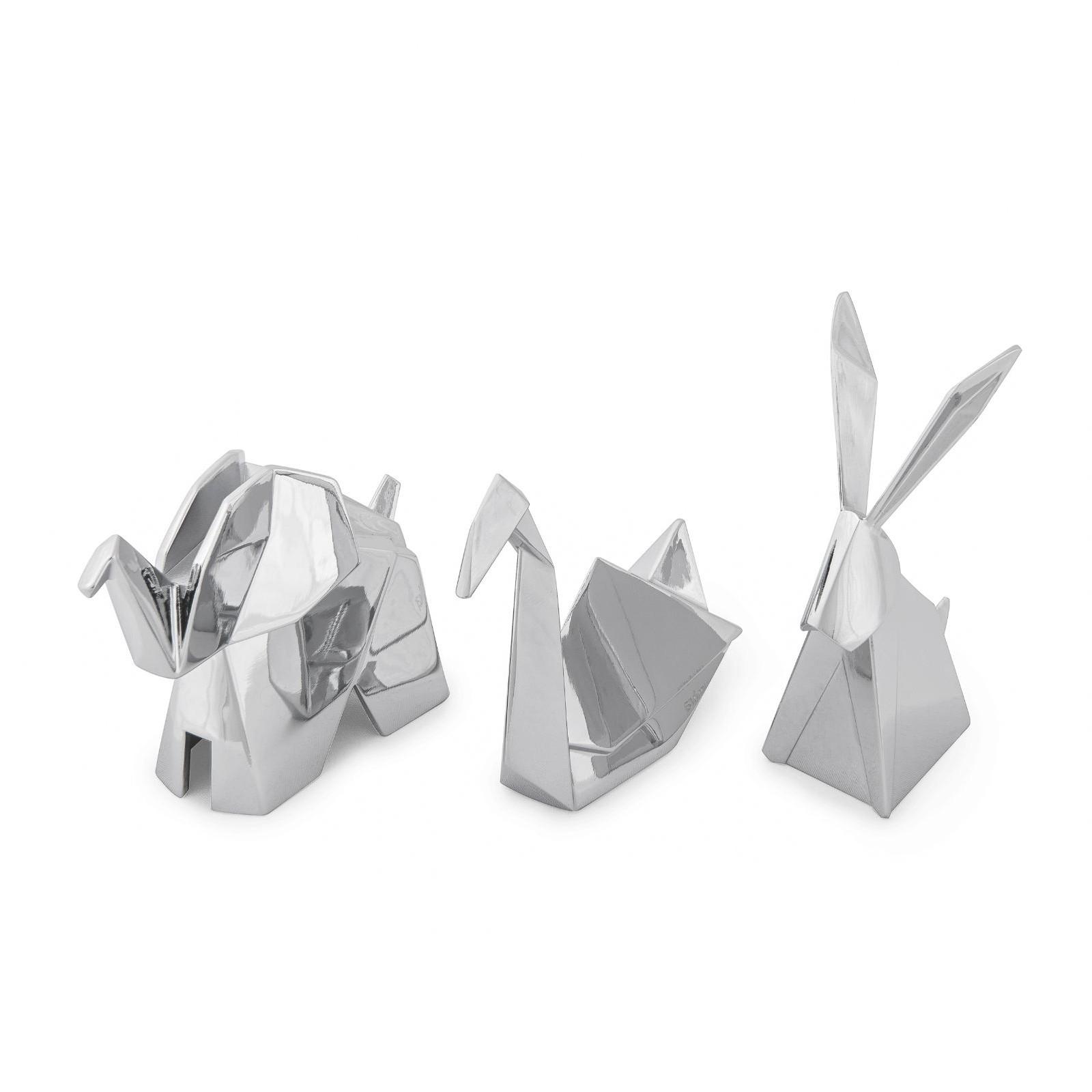 Θήκη Δαχτυλιδιών Origami Σετ των 3 (Χρώμιο) - Umbra
