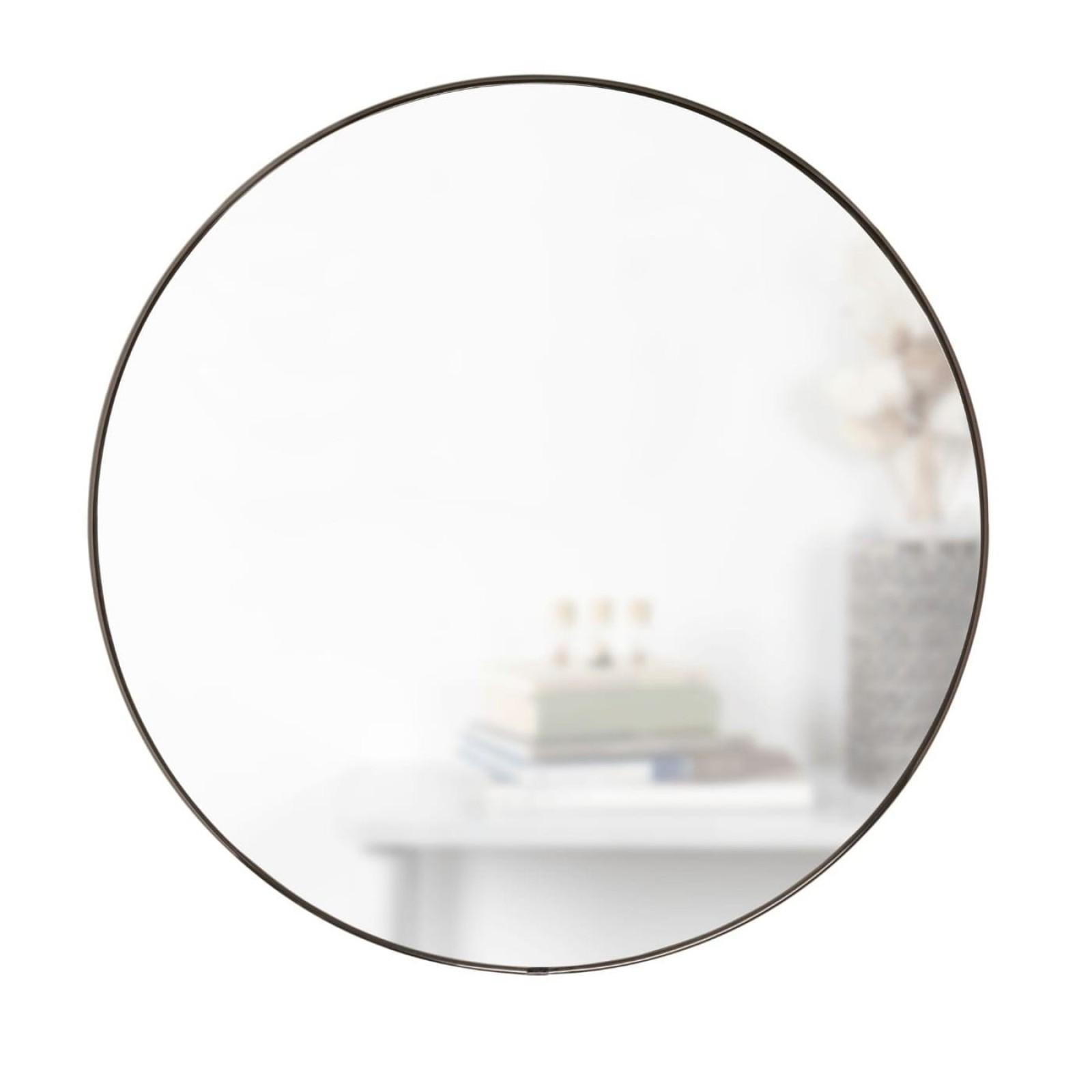 Στρόγγυλος Καθρέφτης Τοίχου Hubba 86 εκ. (Μαύρο) - Umbra