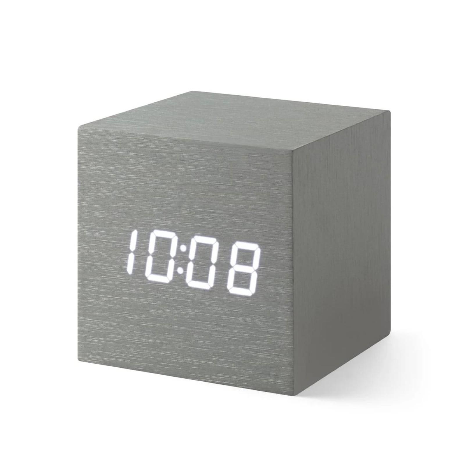 Επιτραπέζιο Ρολόι / Ξυπνητήρι Alume Cube (Αλουμίνιο) - MoMa