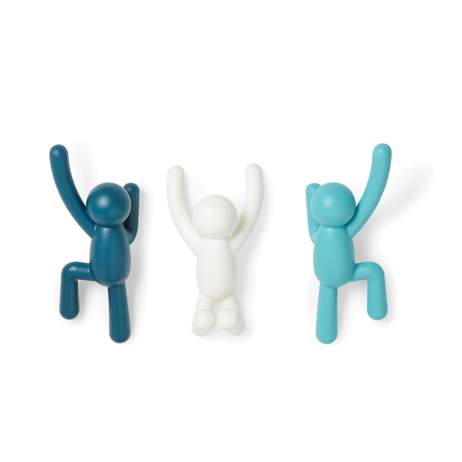 Κρεμάστρα Buddy Σετ των 3 (Μπλε) - Umbra