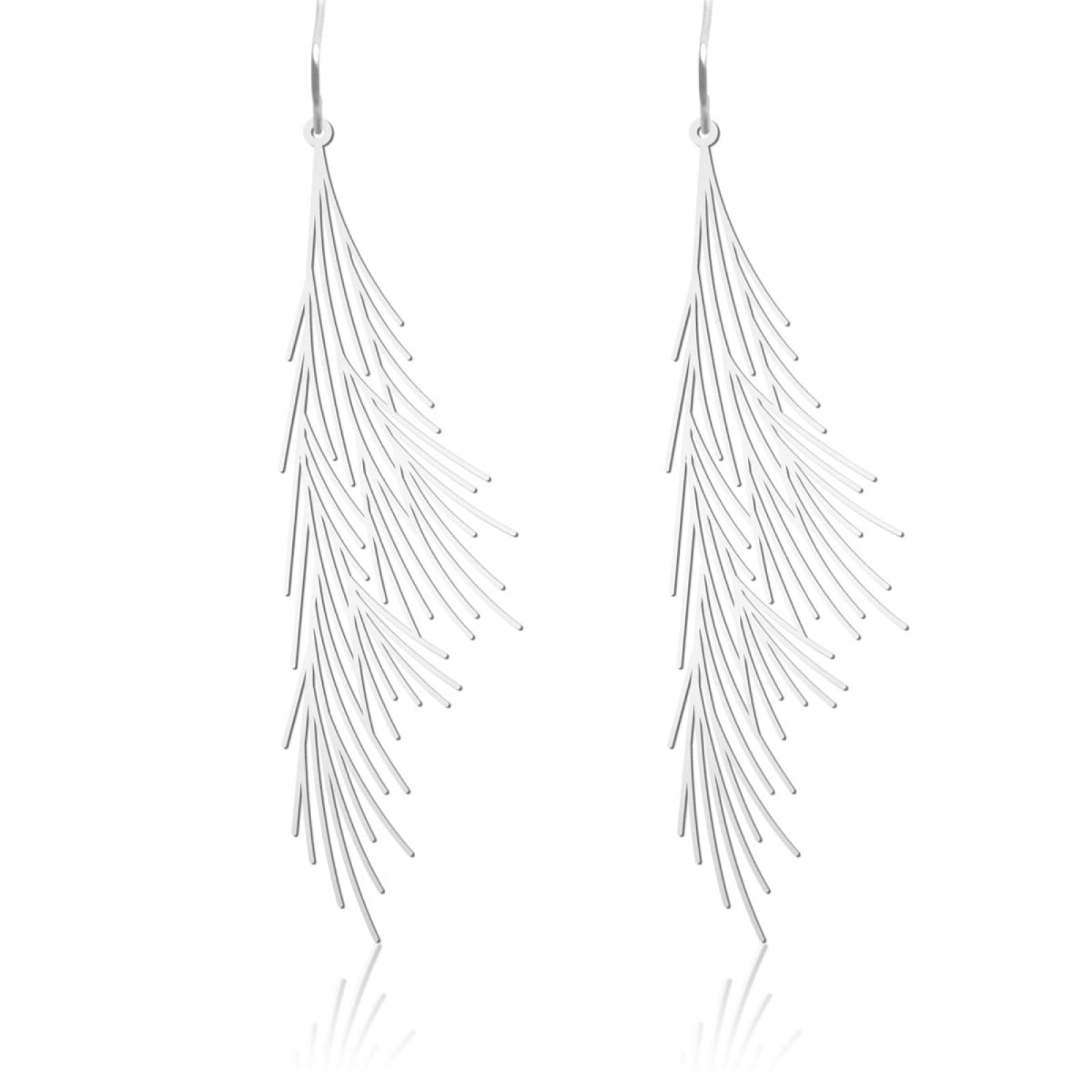 Σκουλαρίκια Common Reed M (Ασημί) - Moorigin