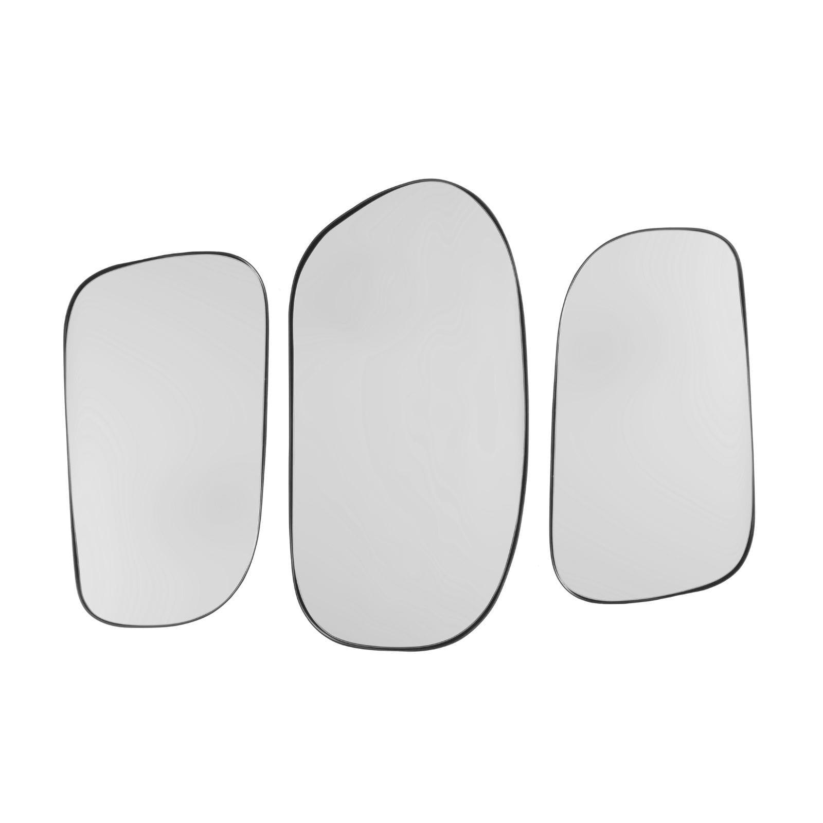 Καθρέφτες Τοίχου Concord Σετ των 3 (Μαύρο / Ασημί) - Present Time