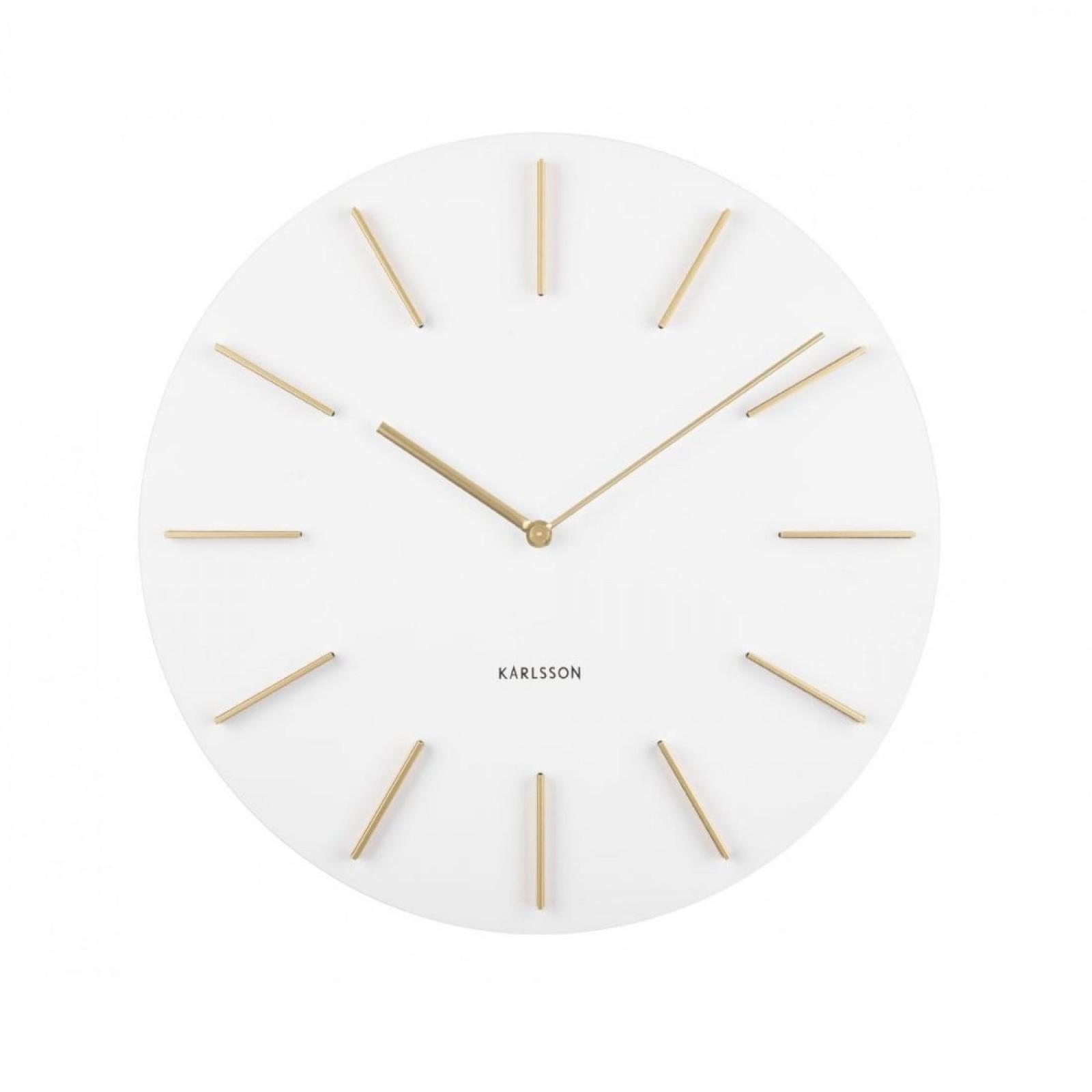 Ρολόι Τοίχου Discreet (Λευκό) - Karlsson