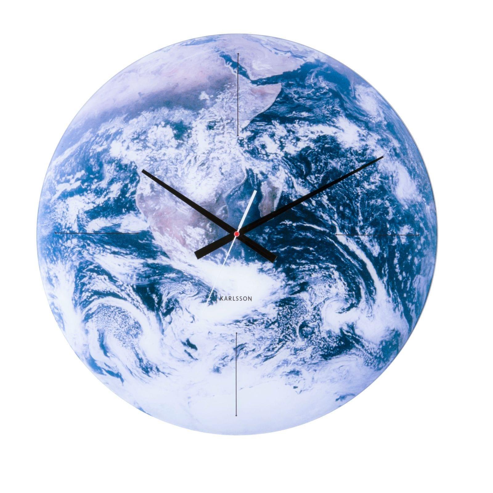 Ρολόι Τοίχου Planet Earth (Γυαλί) - Karlsson