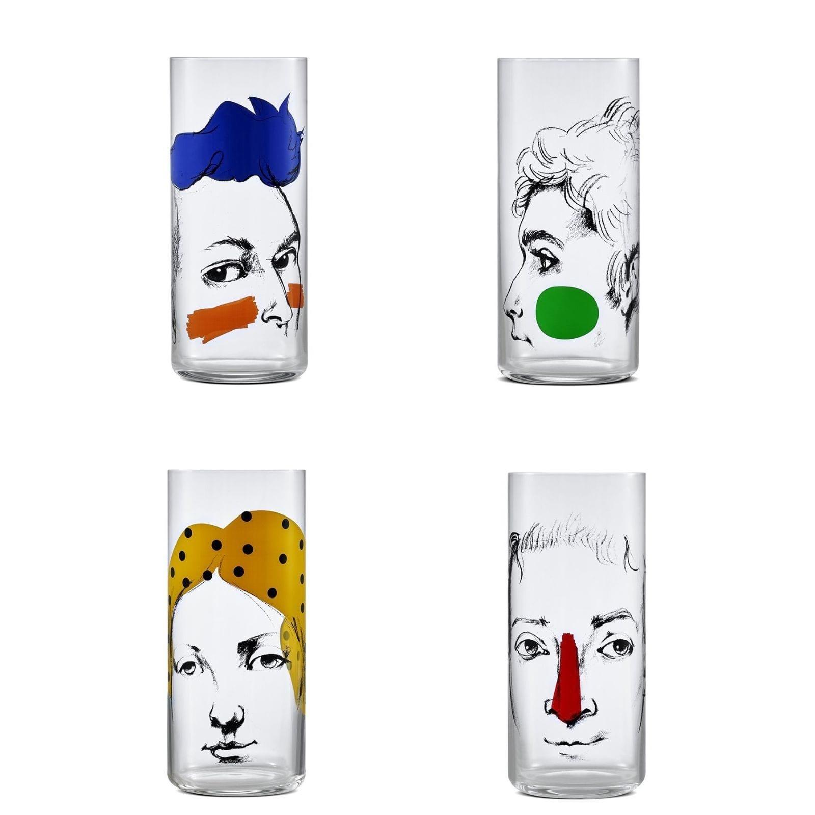 Ψηλά Ποτήρια Finesse Rock & Pop 445 ml (Σετ των 4) - Nude Glass