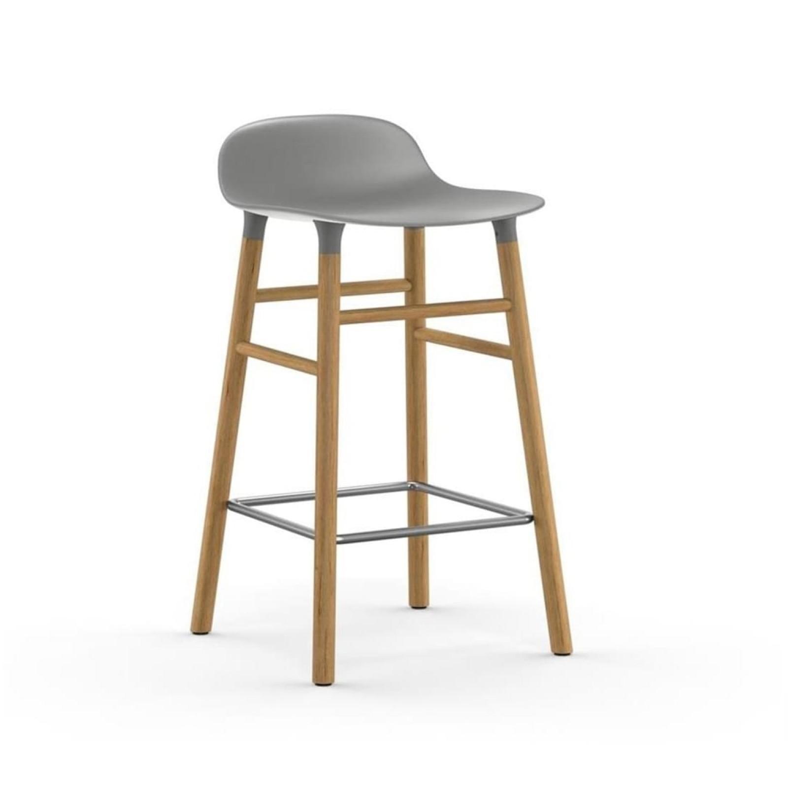 Σκαμπό Form 65 εκ. Ξύλο Βελανιδιάς (Γκρι) - Normann Copenhagen
