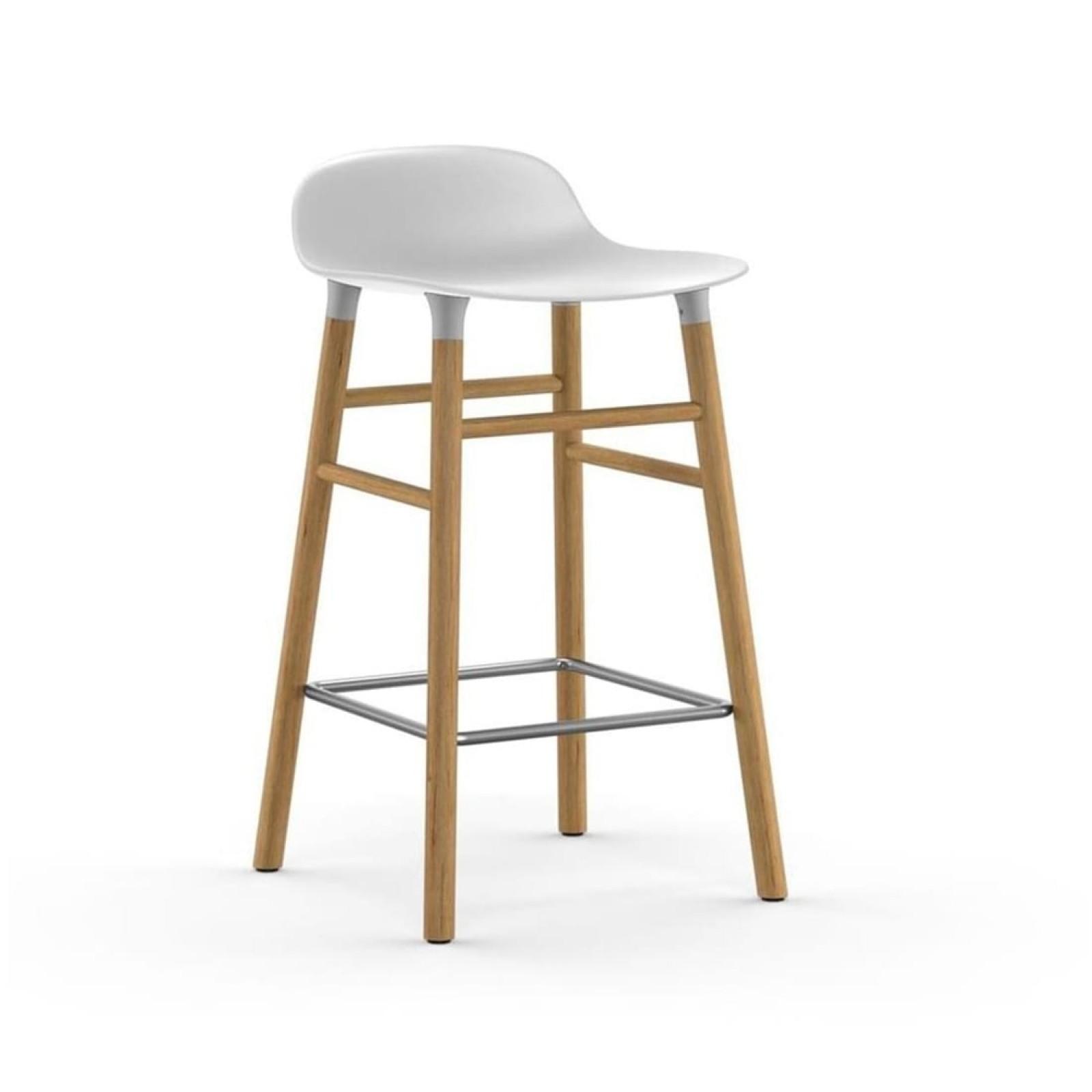 Σκαμπό Form 65 εκ. Ξύλο Βελανιδιάς (Λευκό) - Normann Copenhagen