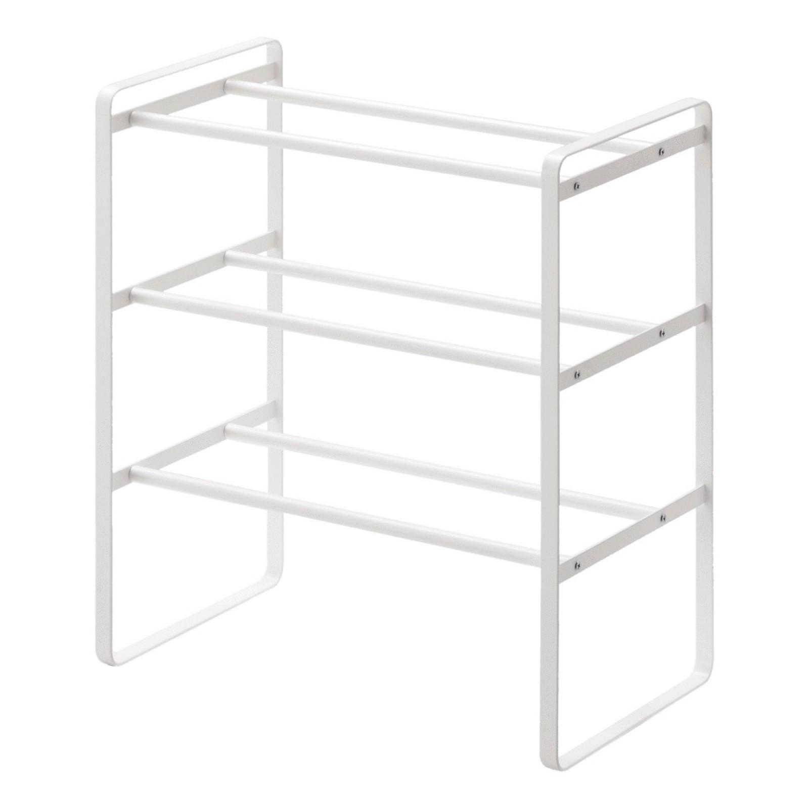 Επεκτεινόμενη Παπουτσοθήκη 3 Επιπέδων Frame (Λευκό) - Yamazaki