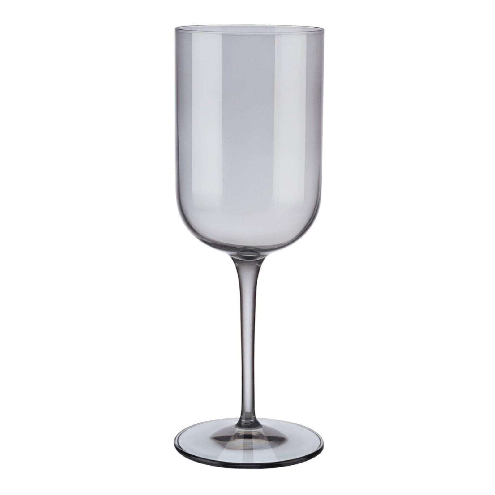 Ποτήρια Κόκκινου Κρασιού FUUM 400 ml Σετ των 4 (Γκρι Γυαλί) - Blomus