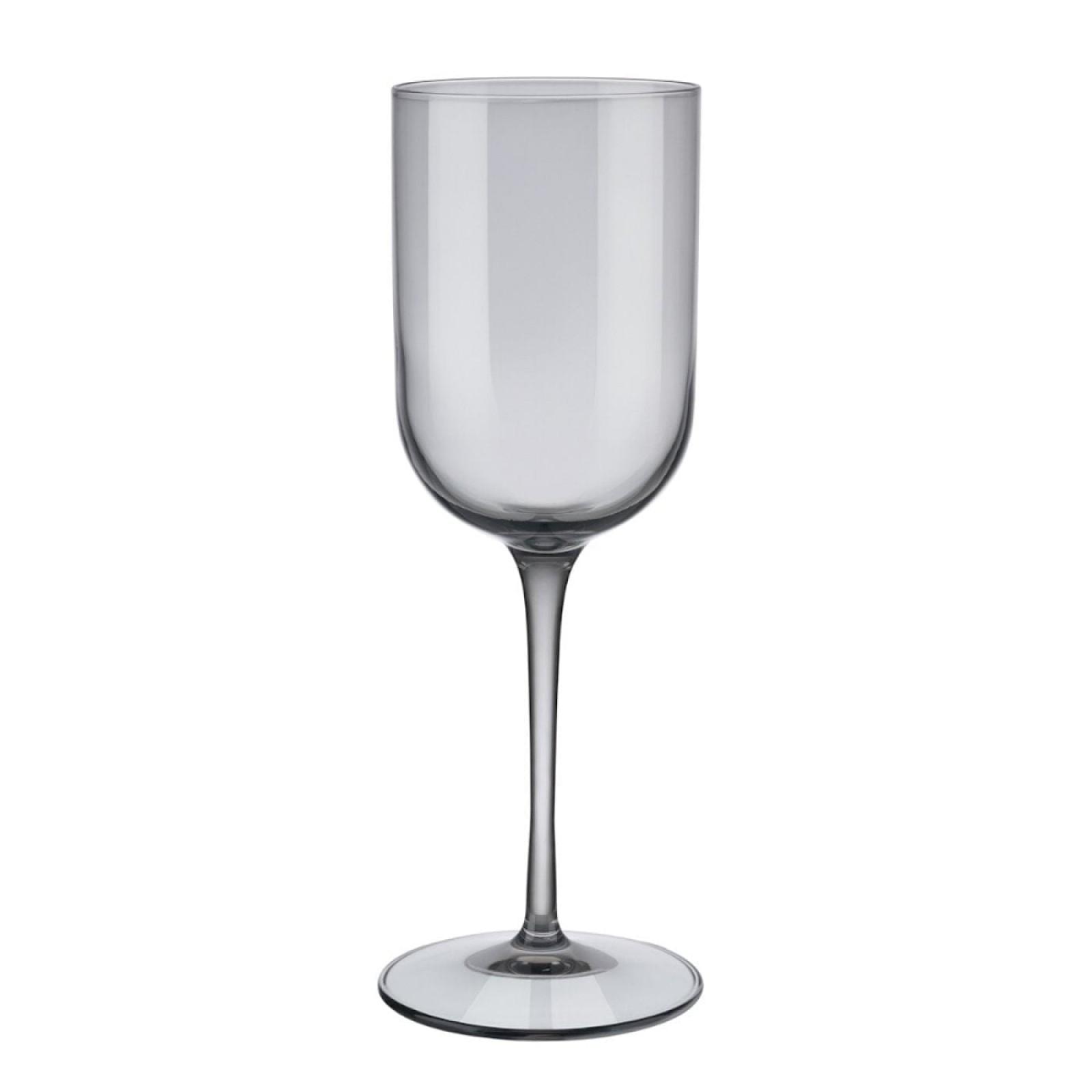 Ποτήρια Λευκού Κρασιού FUUM 280ml Σετ των 4 (Γκρι Γυαλί) - Blomus