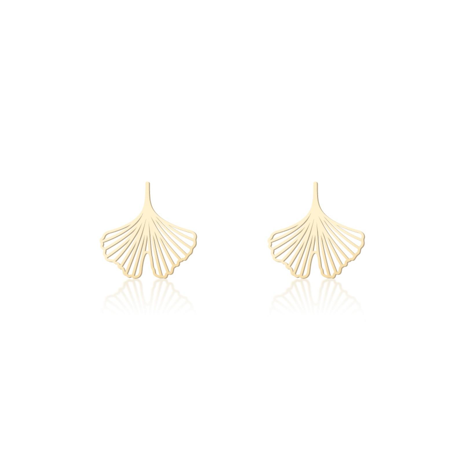 Σκουλαρίκια Ginkgo XS (Χρυσό) - Moorigin