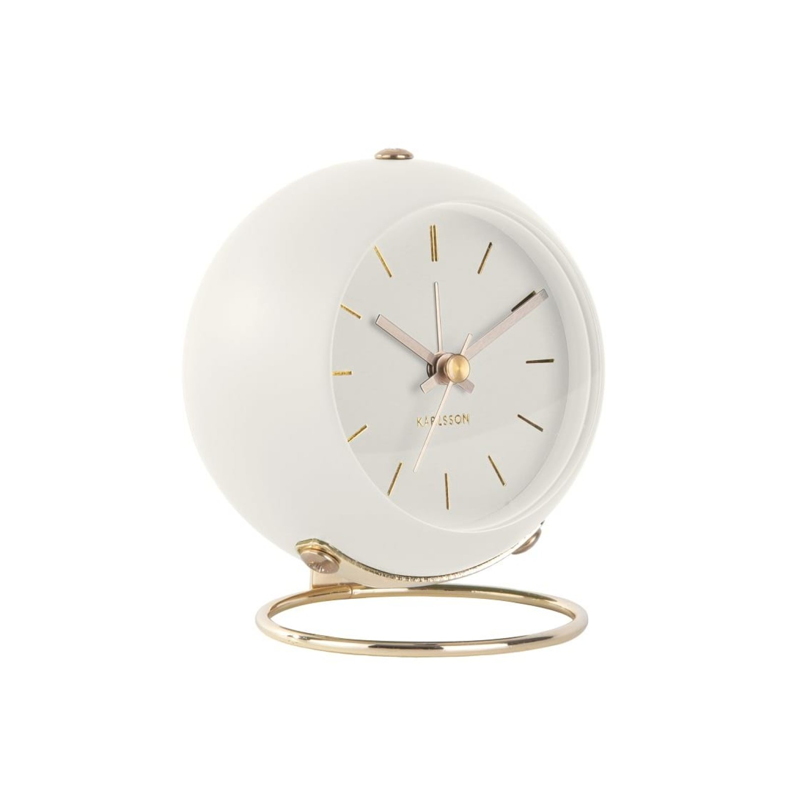 Επιτραπέζιο Ρολόι Ξυπνητήρι Globe (Λευκό) - Karlsson
