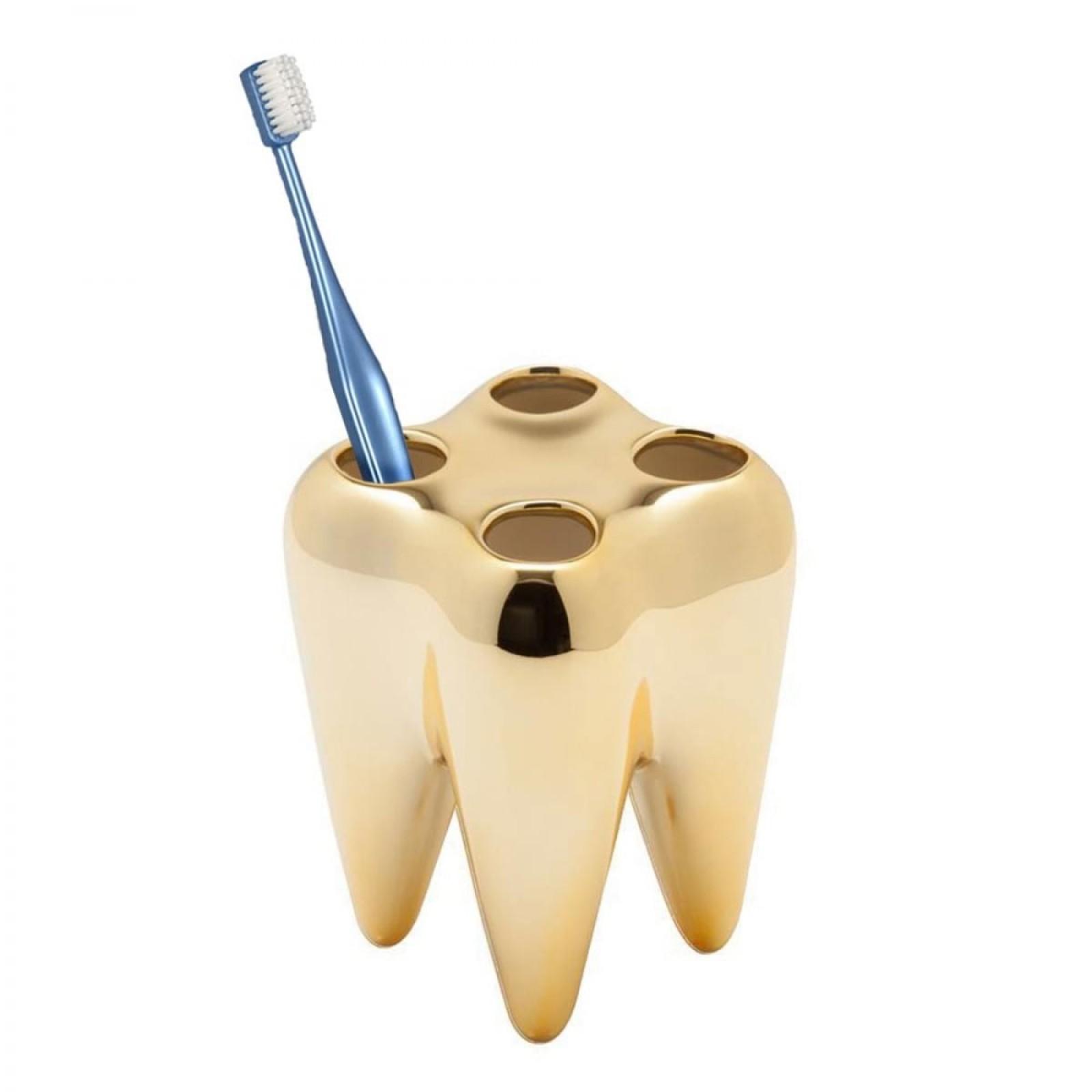 Θήκη / Βάση για Οδοντόβουρτσες GOLD TOOTH