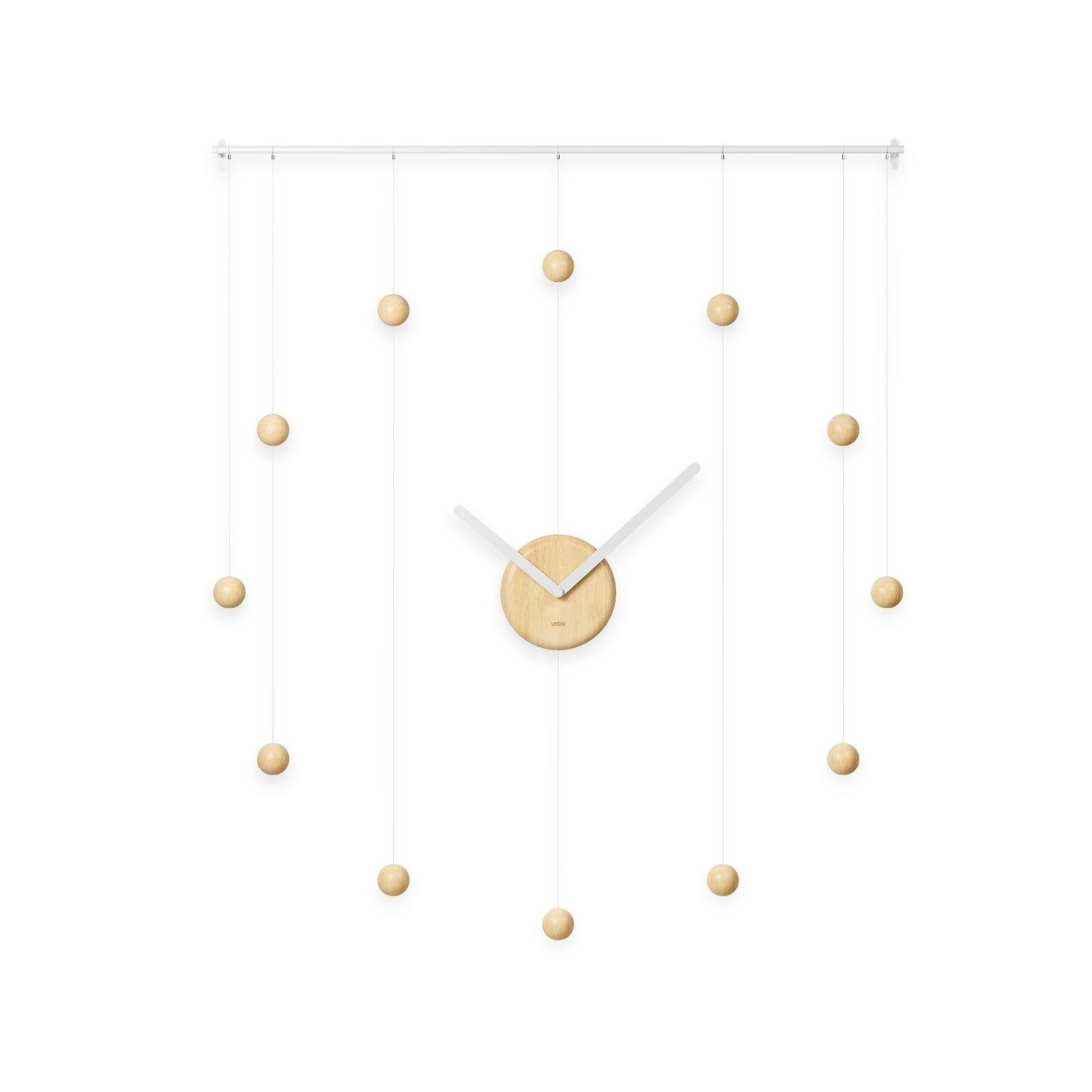 Ρολόι τοίχου Hangtime (Λευκό / Φυσικό) - Umbra