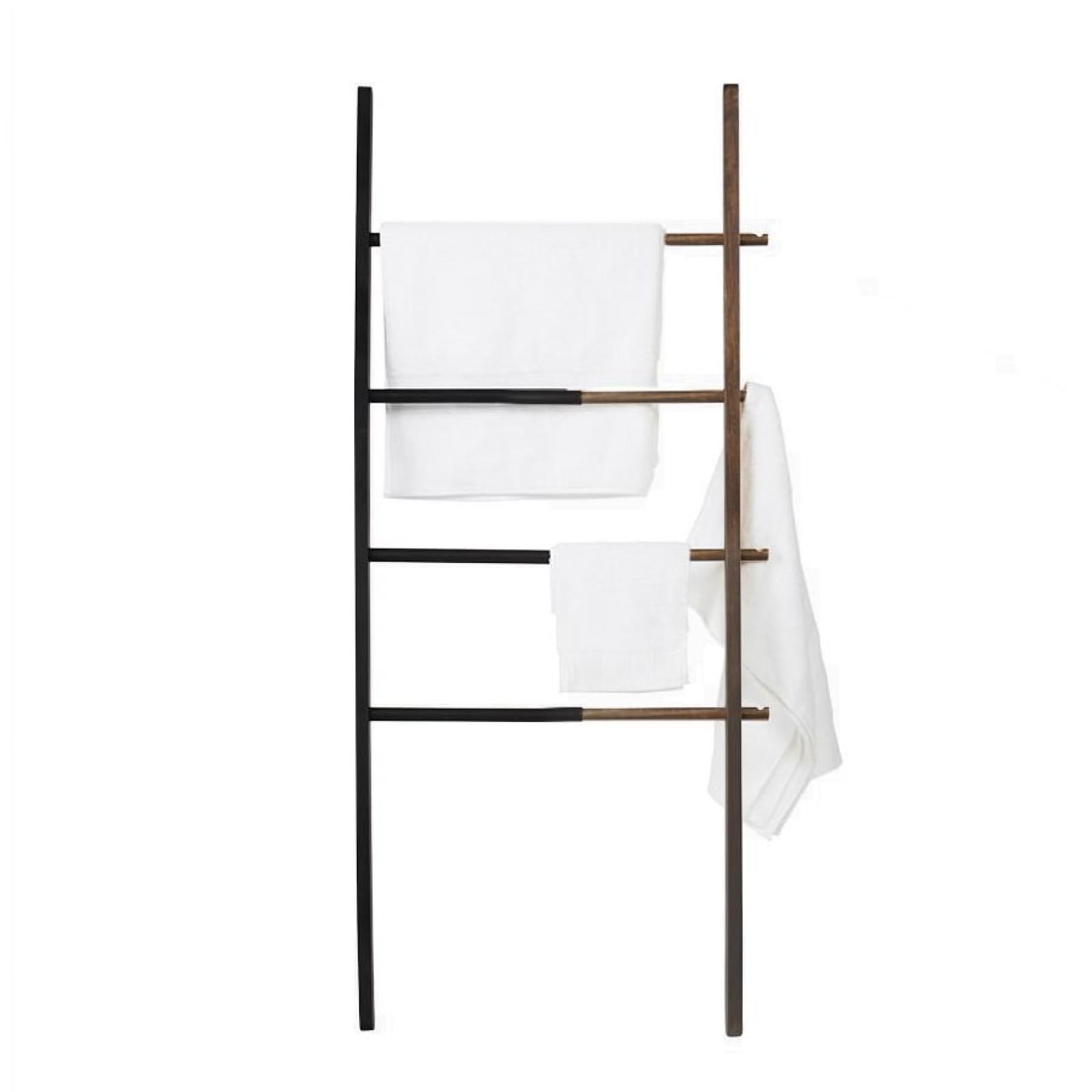 Σκάλα - Κρεμάστρα Hub (Μαύρο / Ξύλο Καρυδιάς) - Umbra