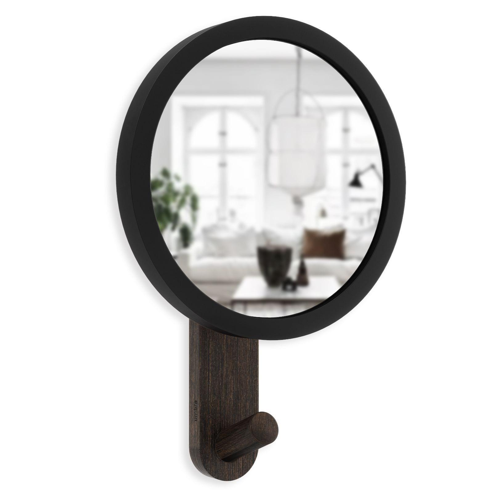 Κρεμάστρα Τοίχου με Καθρέφτη Hub Mirror (Μαύρο / Καρυδιά) - Umbra