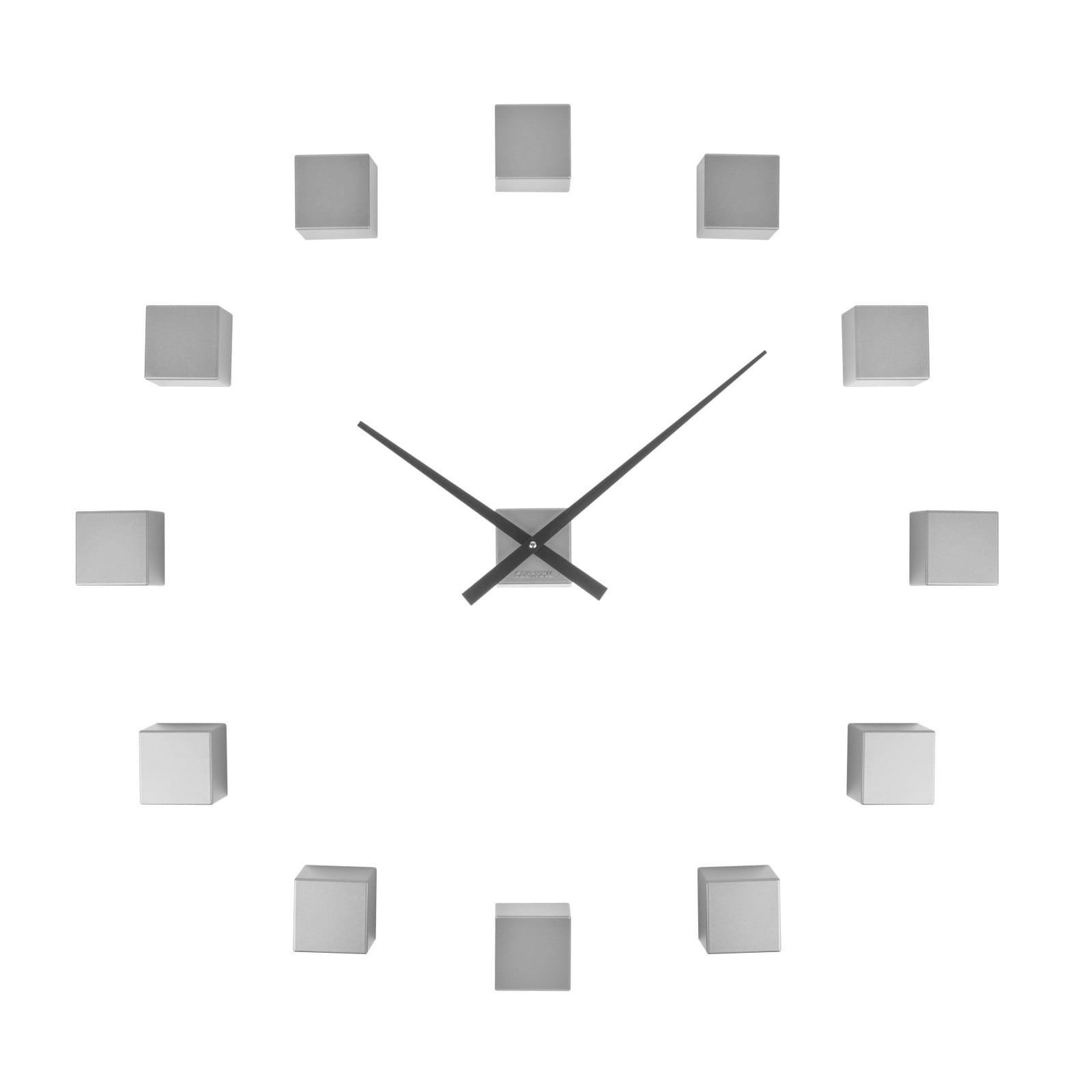 Ρολόι τοίχου Do It Yourself Cubic (Ασημί) - Karlsson