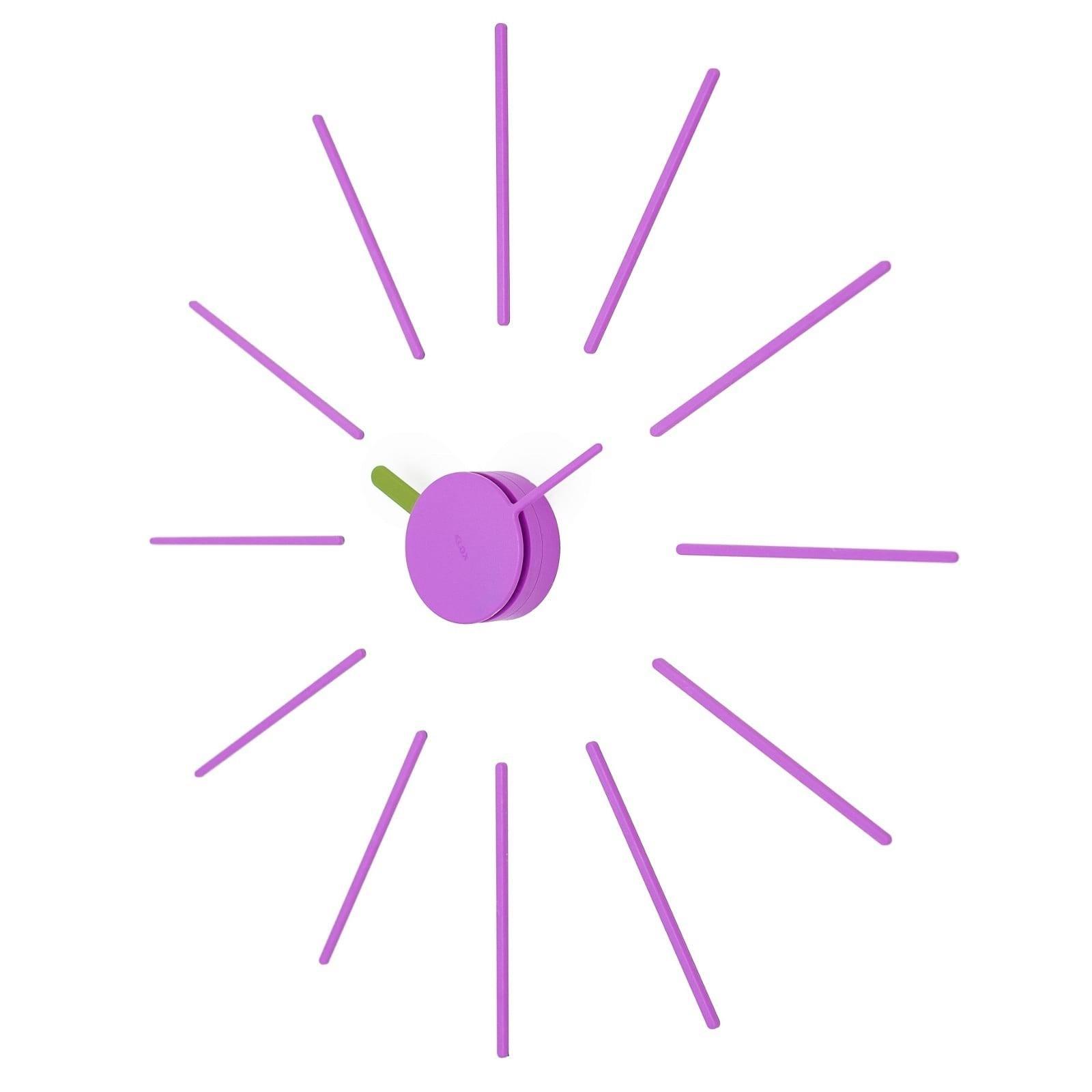 Ρολόι Τοίχου Urchin (Λιλά/Λαδί) - KLOX