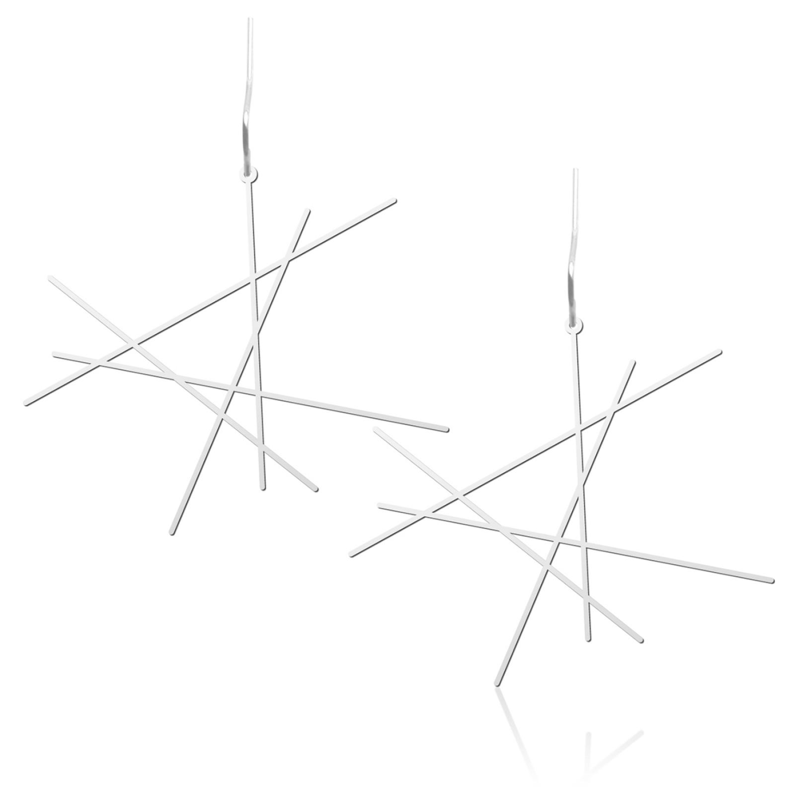 Σκουλαρίκια Line M (Ασημί) - Moorigin