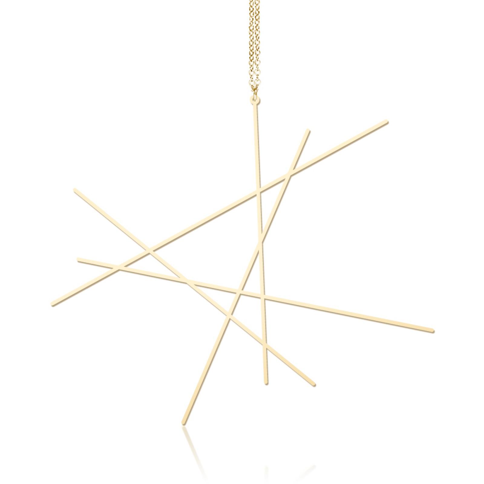 Κολιέ Μενταγιόν Line L (Χρυσό) - Moorigin