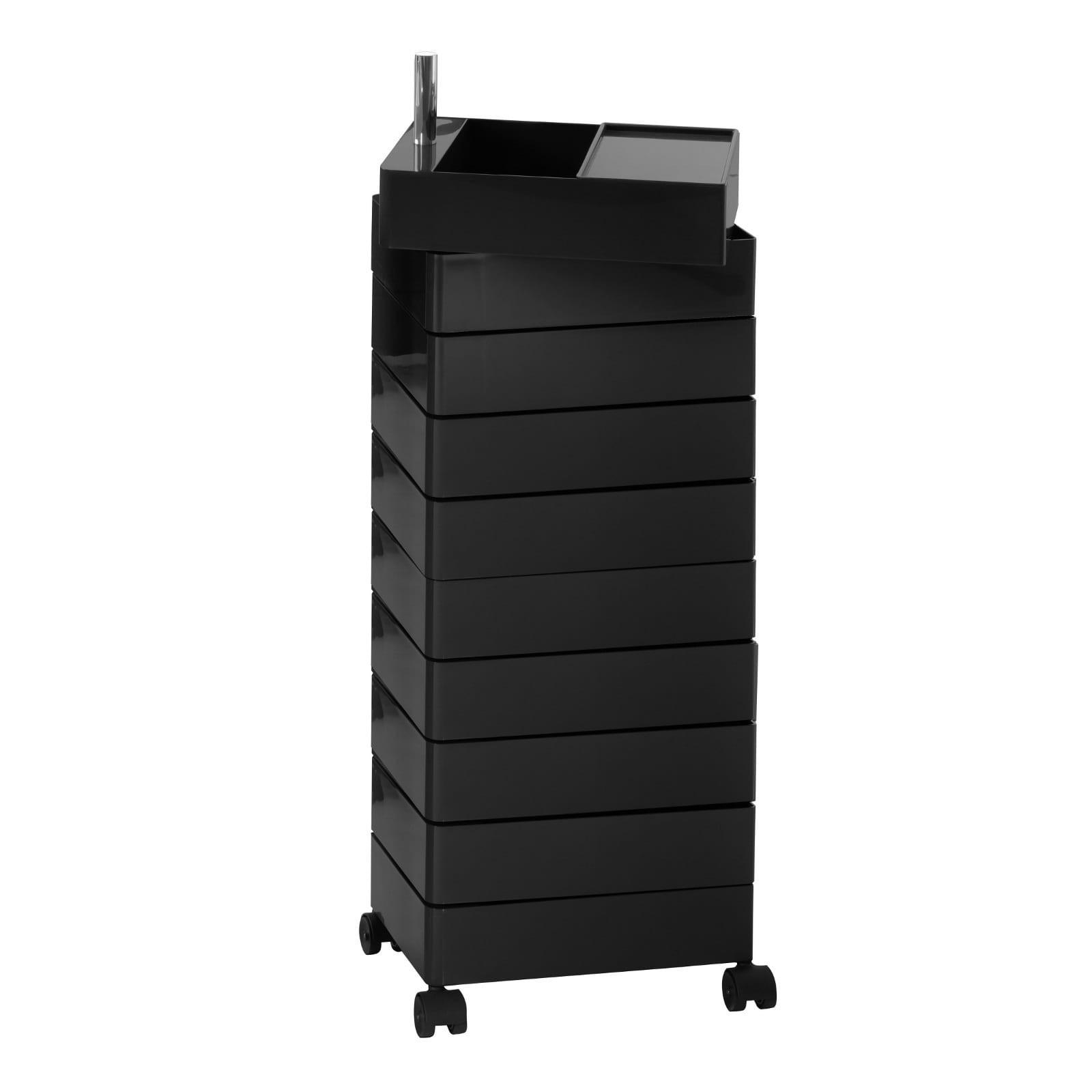 Τροχήλατη Συρταριέρα 360° Container με 8 Συρτάρια (Μαύρο) - Magis