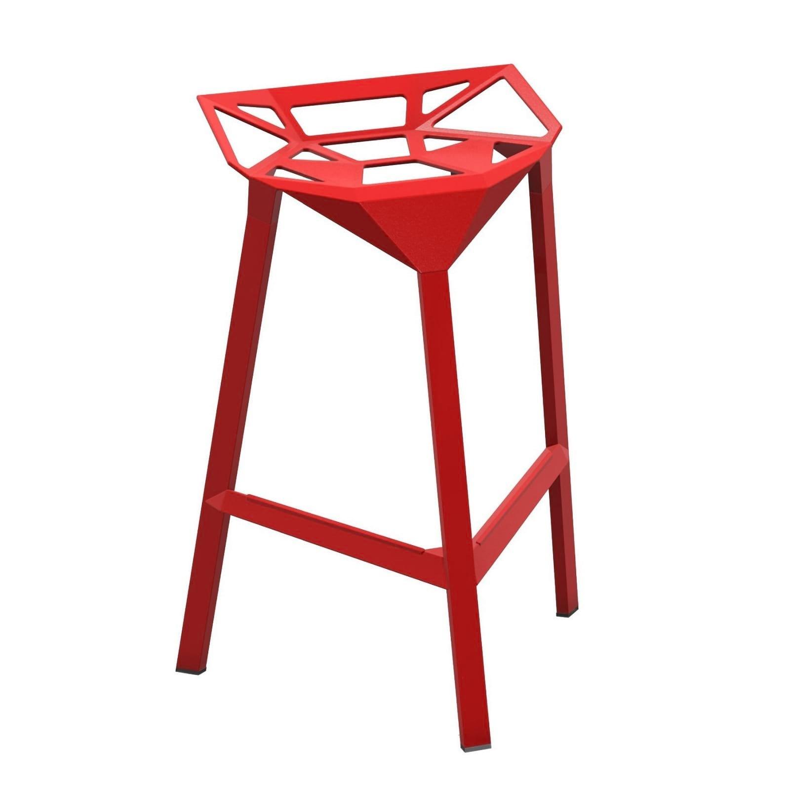 Μεταλλικό Σκαμπό Μπαρ Stool One (Κόκκινο) - Magis