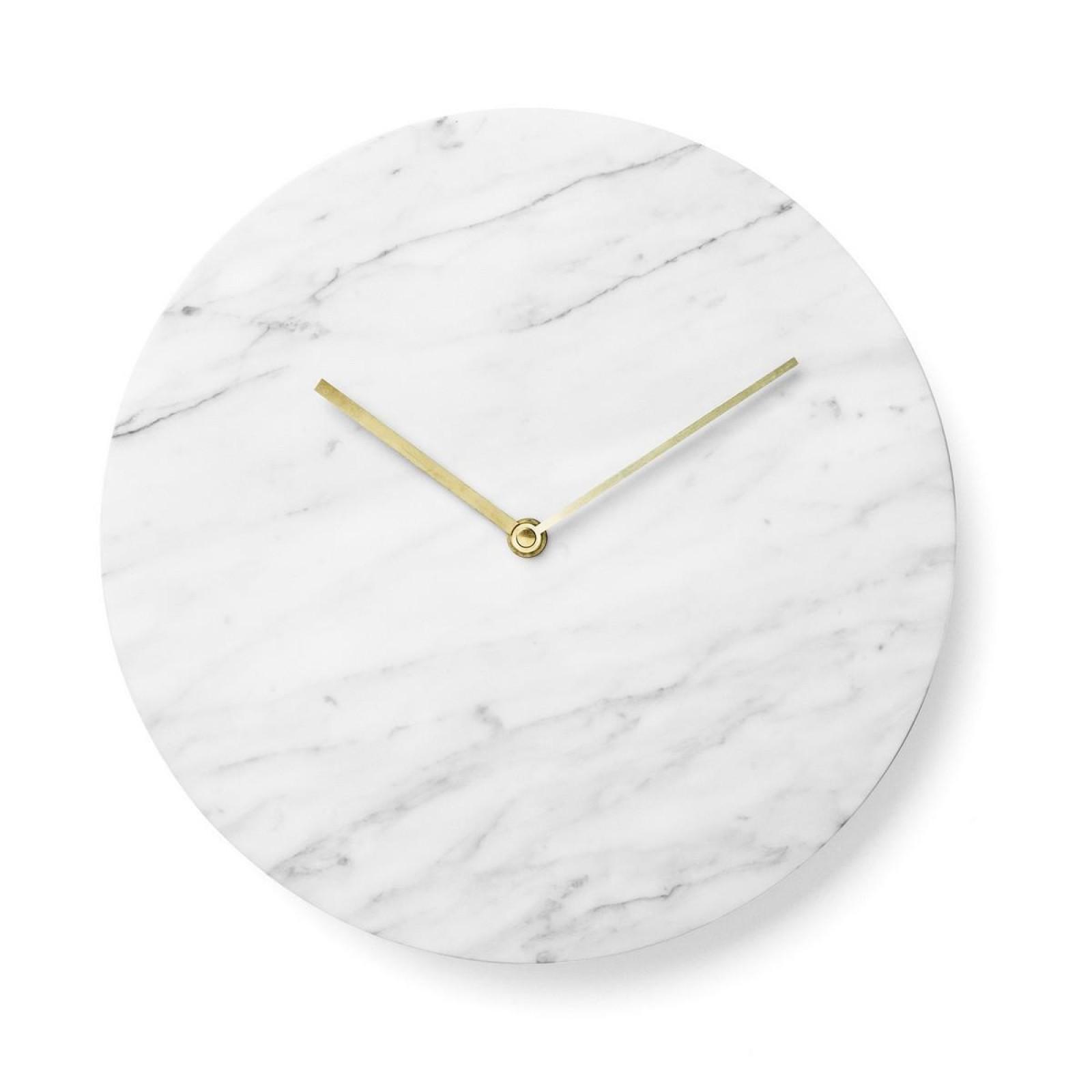 Μαρμάρινο Ρολόι Τοίχου Marble (Λευκό) - Menu