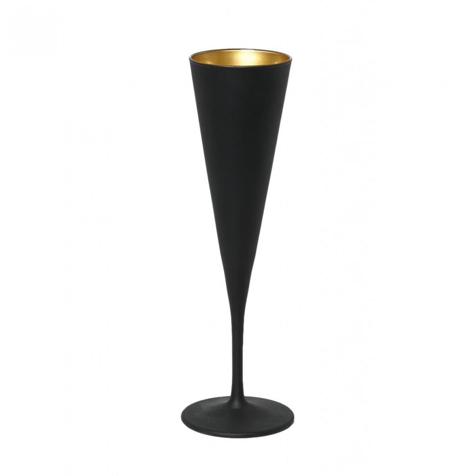 Ποτήρια Σαμπάνιας Maya Black Gold 150ml (Σετ των 6) - Espiel