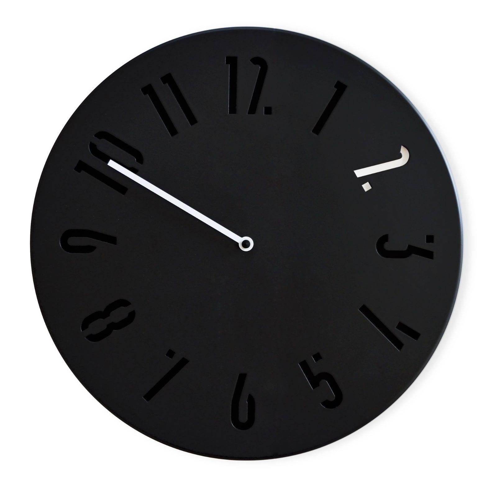 Ρολόι Τοίχου MiCLOCK (Μαύρο / Λευκό) - Sabrina Fossi Design