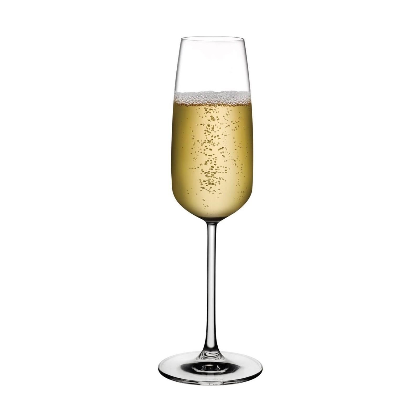 Ποτήρια Σαμπάνιας Mirage 245 ml (Σετ των 6) - Nude Glass