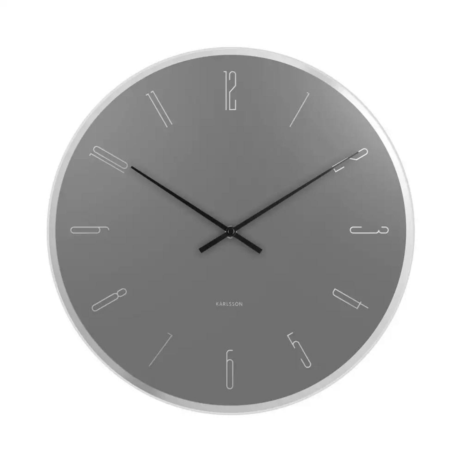 Ρολόι Τοίχου Mirror Numbers (Γκρι) - Karlsson