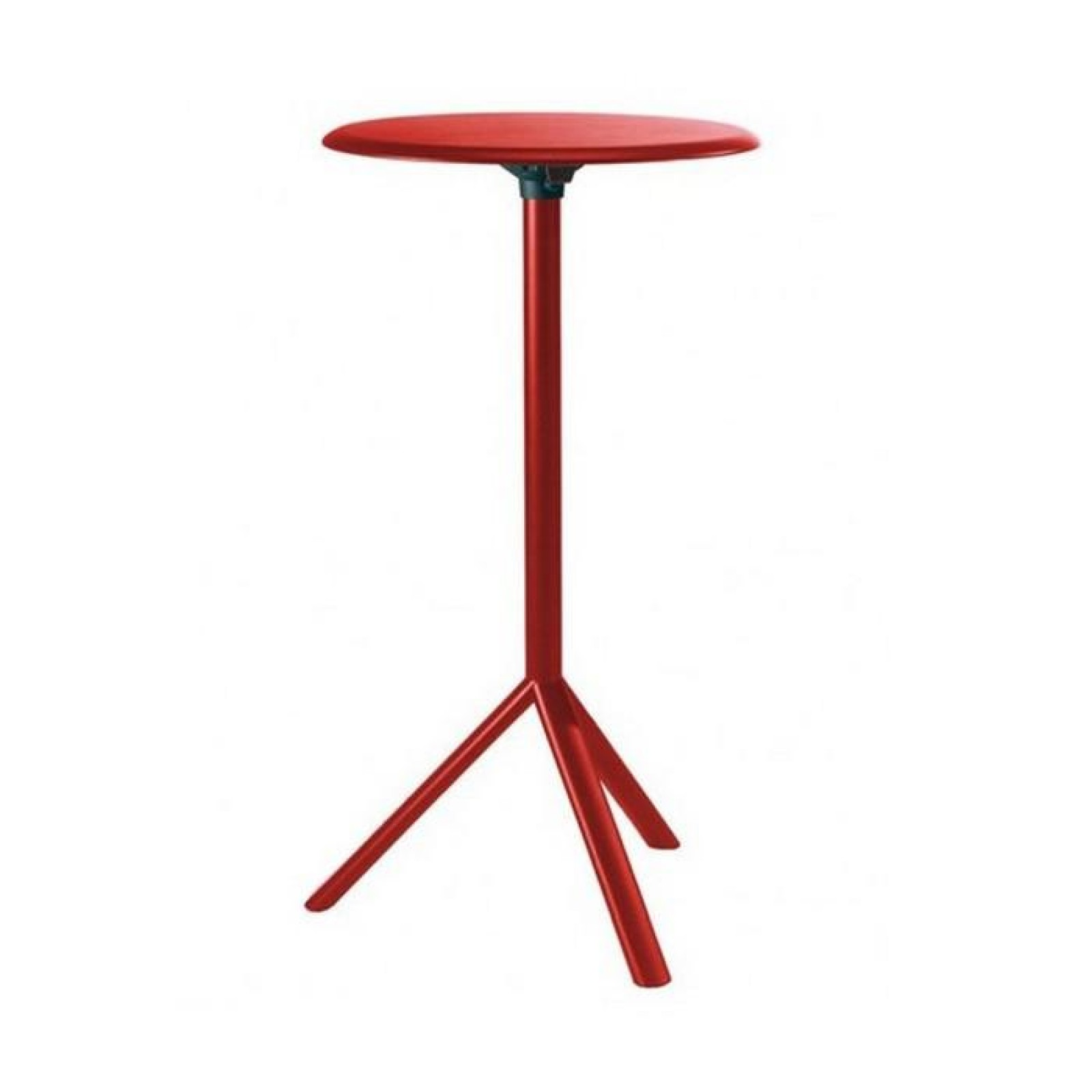 MIURA High Round Table - PLANK-Traffic Red-Diameter 60 cm Metal