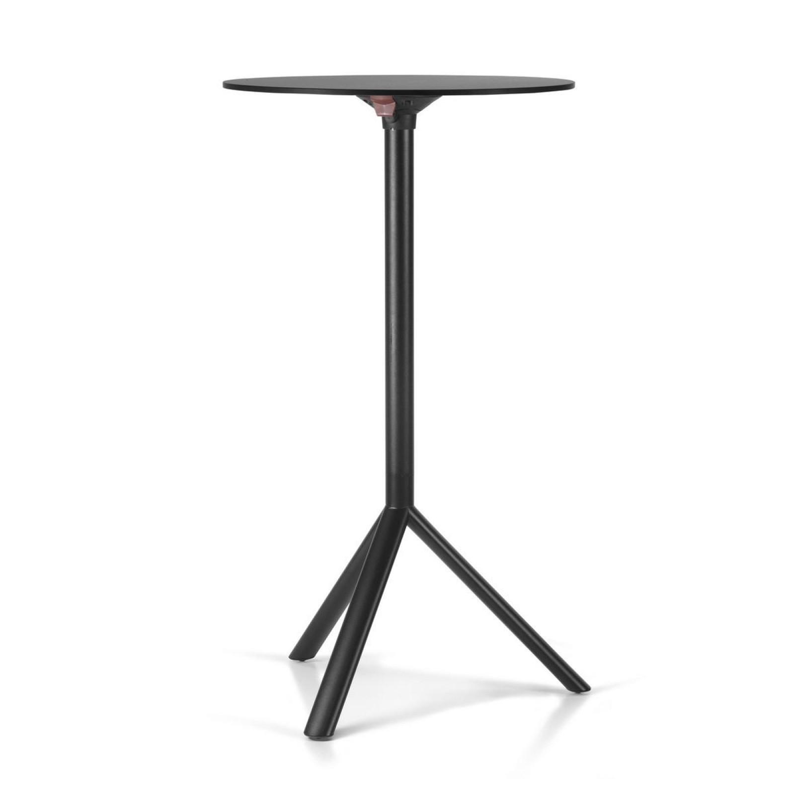 MIURA High Round Table - PLANK-Black-Diameter 70 cm Black Laminate