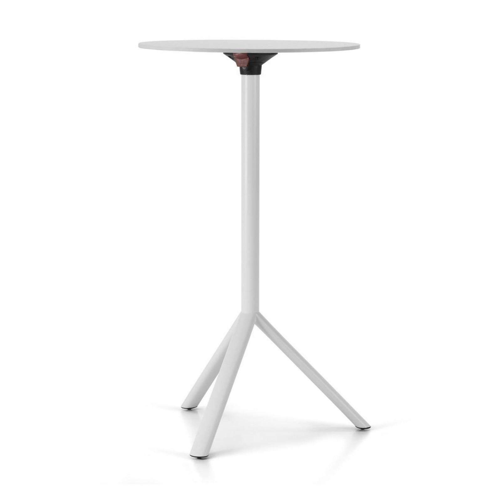 MIURA High Round Table - PLANK-White-Diameter 70 cm White Laminate