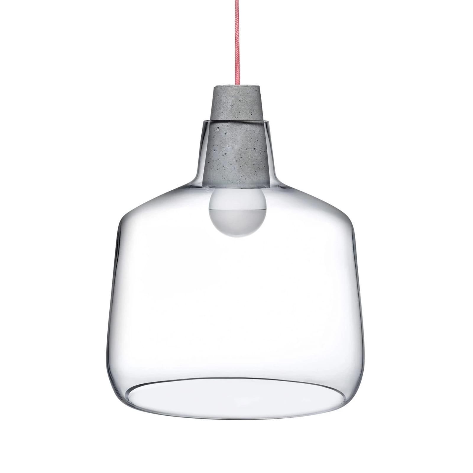 Κρυστάλλινο Φωτιστικό Οροφής MONO 30,4 εκ. (Διάφανο / Τσιμέντο) - Nude Glass