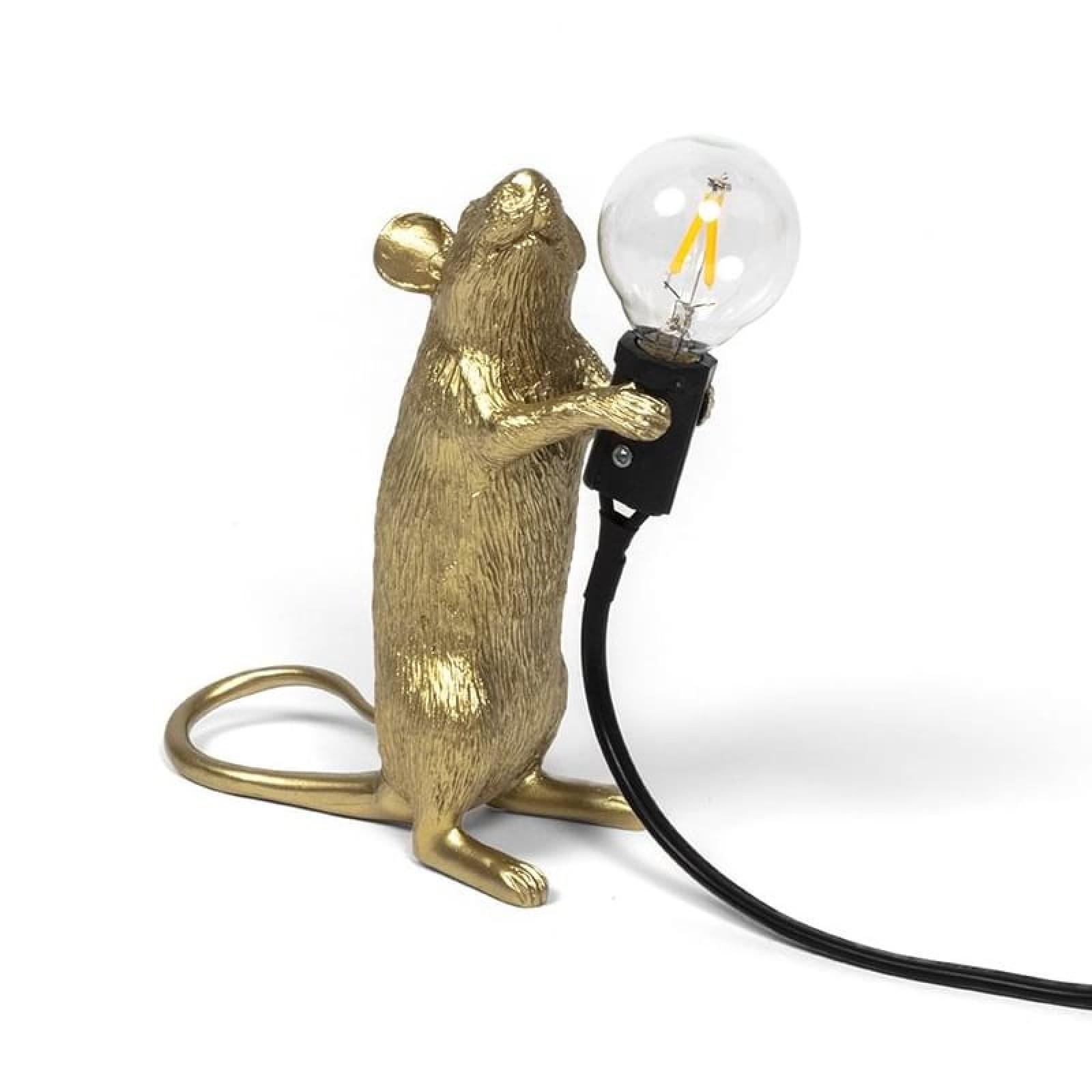 Φωτιστικό Mouse Standing Gold Step - Seletti