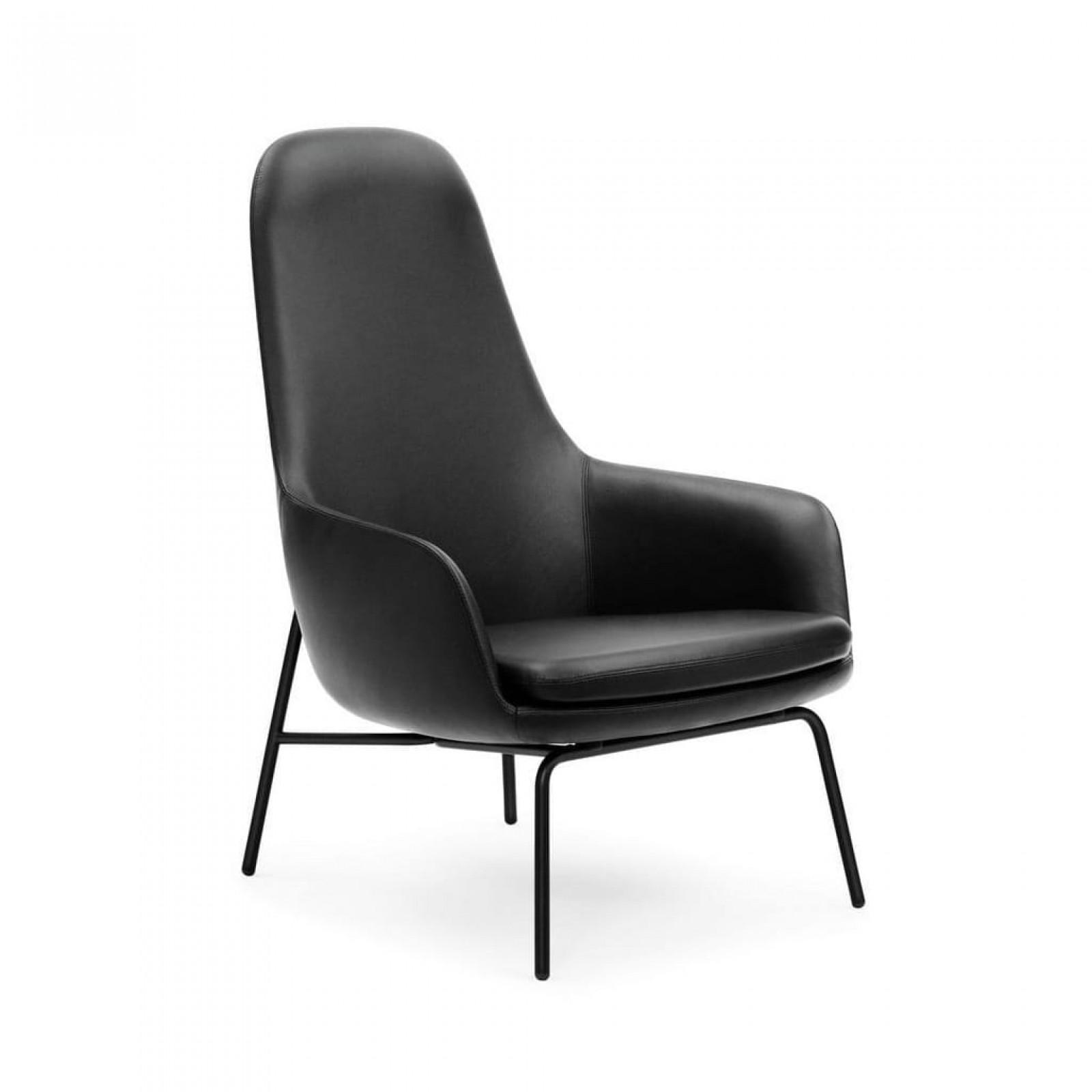 Δερμάτινη Πολυθρόνα με Ψηλή Πλάτη Era Lounge (Μέταλλο) - Normann Copenhagen
