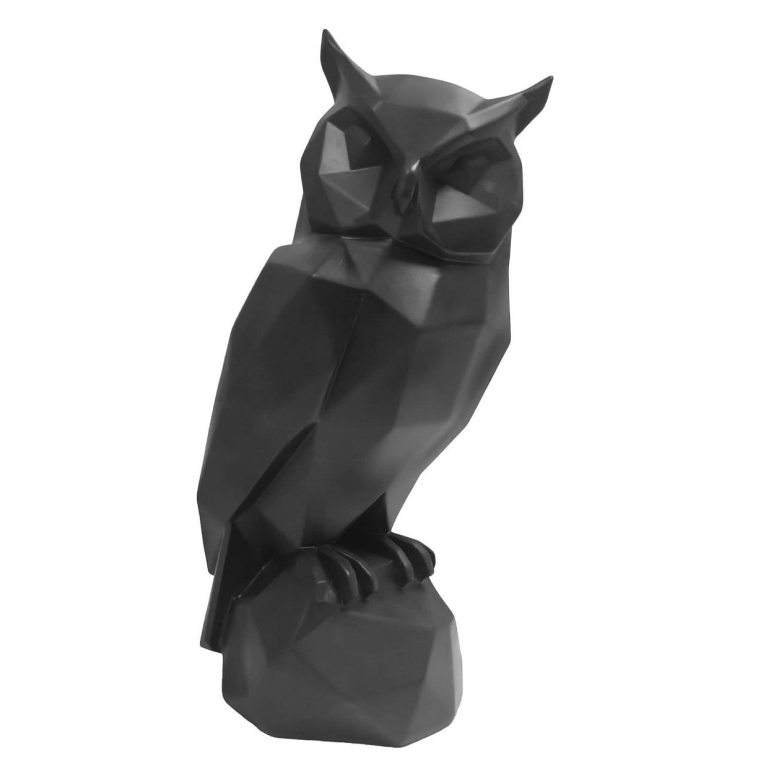 Διακοσμητικό Γλυπτό Origami Owl (Μαύρο) - Present Time