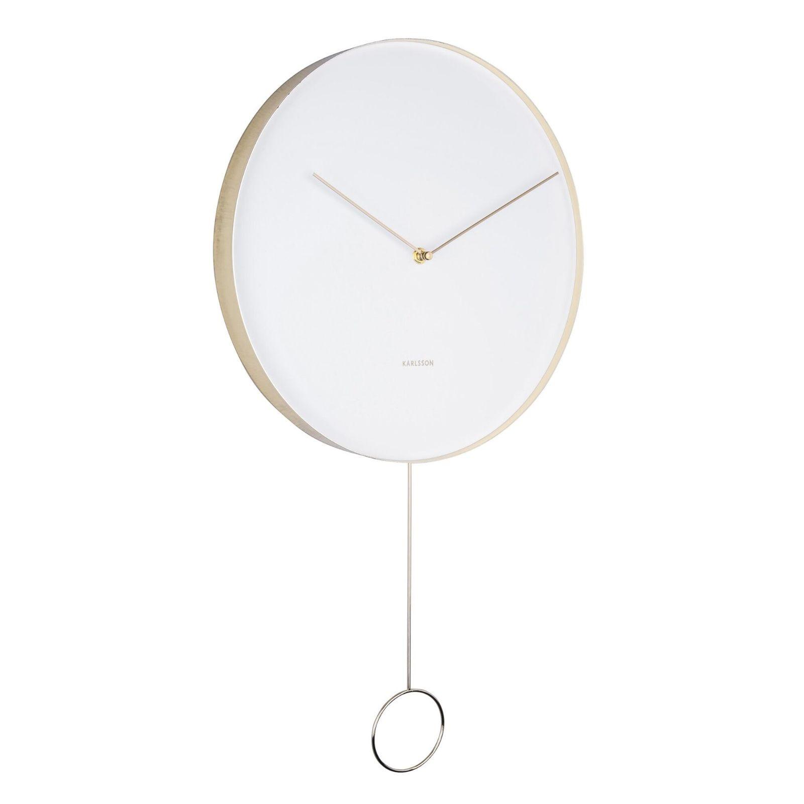 Ρολόι Τοίχου με Εκκρεμές Pendulum (Λευκό) - Karlsson