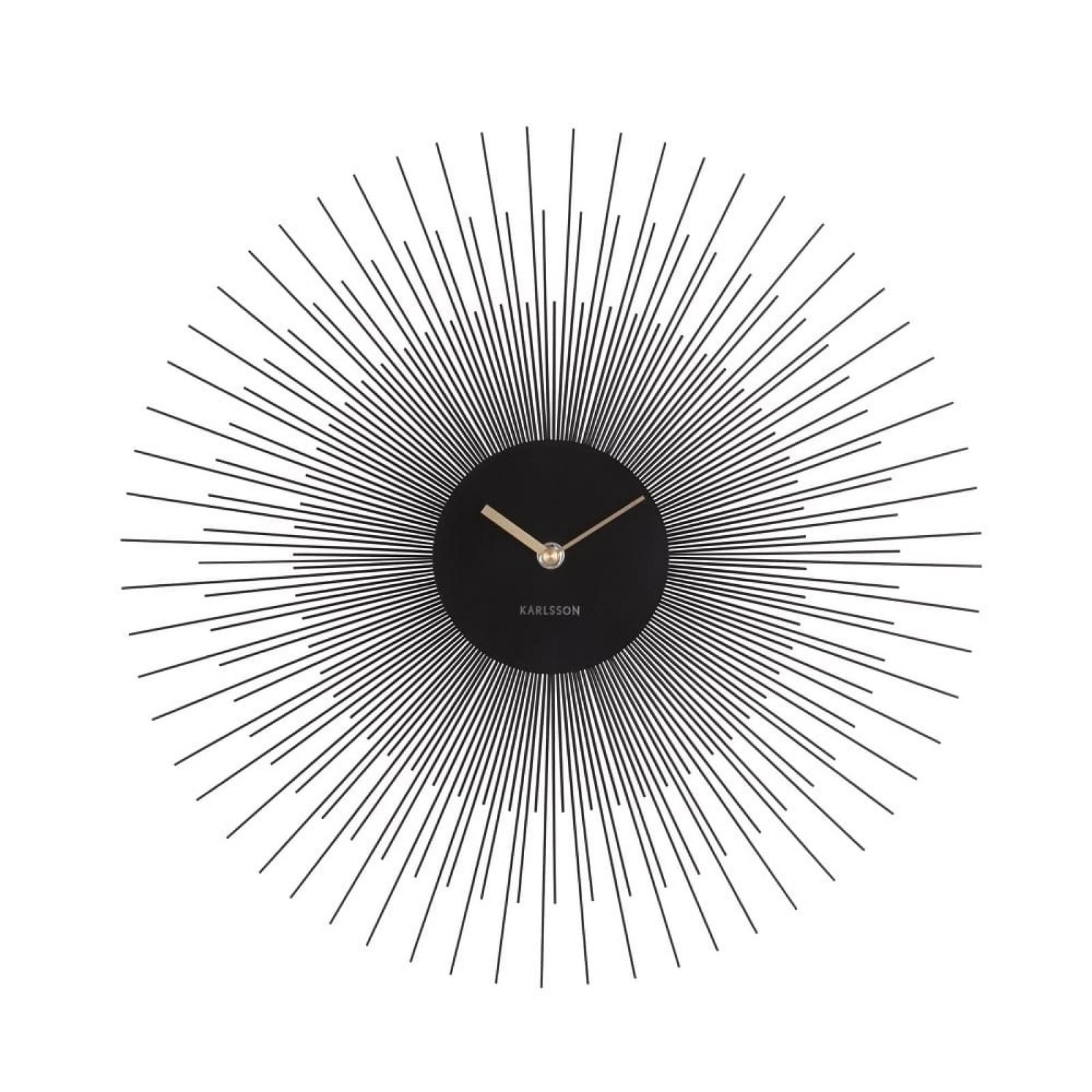 Ρολόι Τοίχου Peony (Μαύρο Ατσάλι) - Karlsson