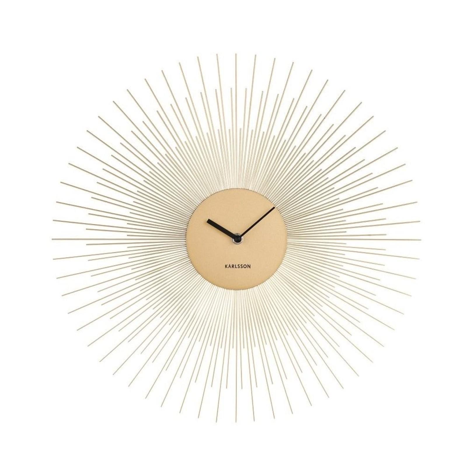 Ρολόι Τοίχου Peony (Χρυσό Ατσάλι) - Karlsson