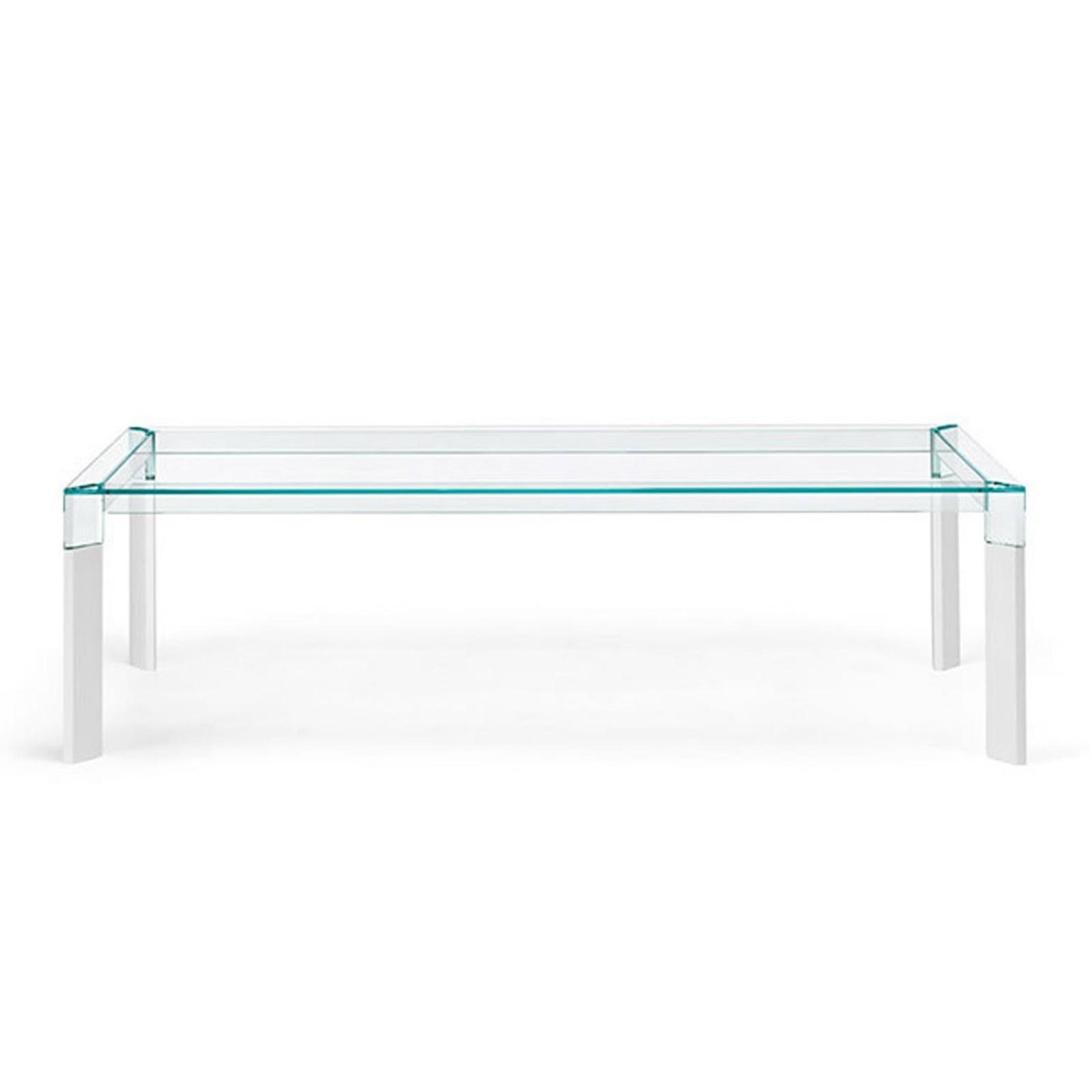 Γυάλινο Τραπέζι Perseo (Λευκό) - Tonelli Design