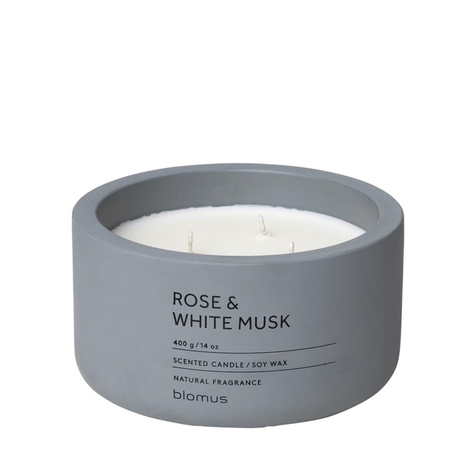Αρωματικό Κερί FRAGA XL Rose & White Musk - Blomus