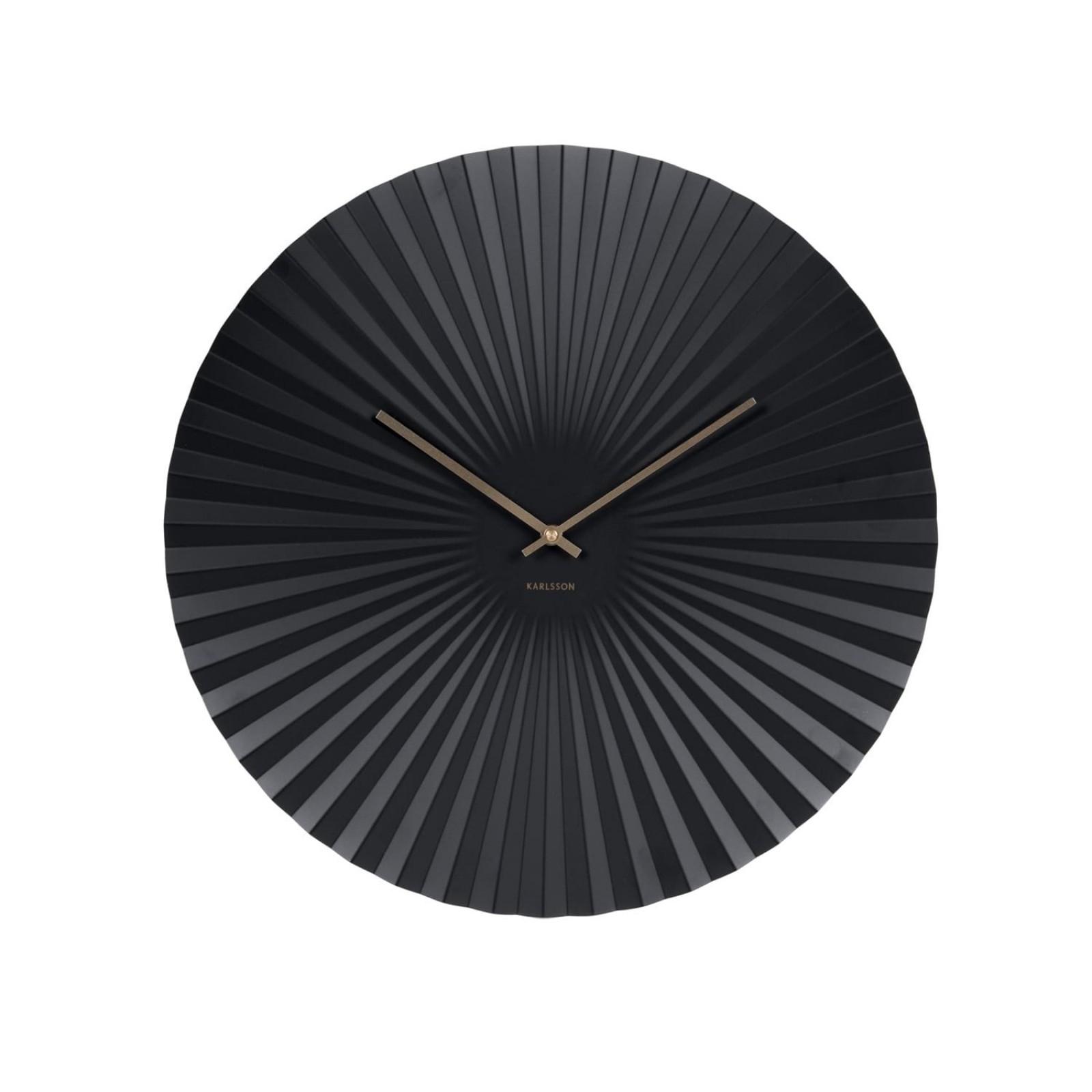 Ρολόι Τοίχου Sensu Steel (Μαύρο) - Karlsson