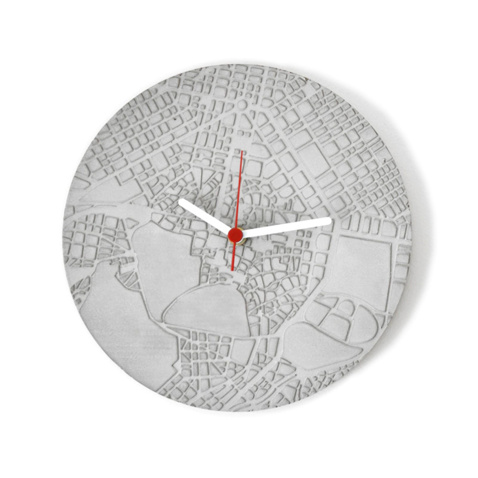Ρολόι Τοίχου από Τσιμέντο Space & Time (Γκρι) - A Future Perfect