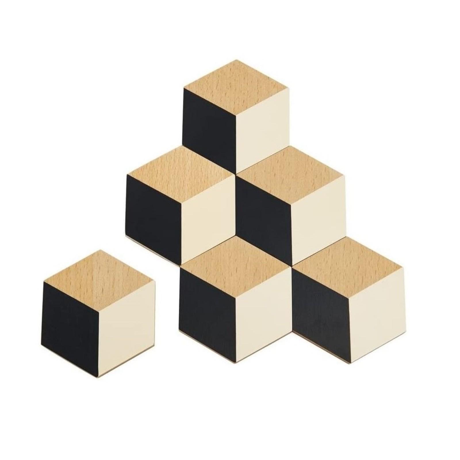 Σουβέρ Table Tiles Σετ των 6 (Μαύρο / Μπεζ) - Areaware